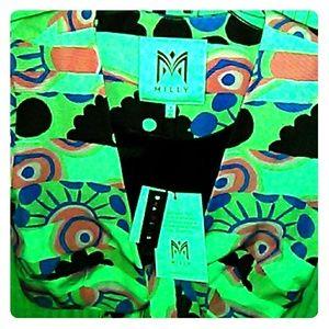 Milly multi color womens blazer